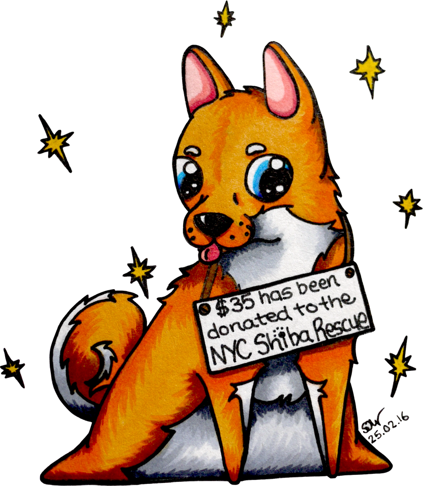 Donation To The NYC Shiba Rescue by Harleydane