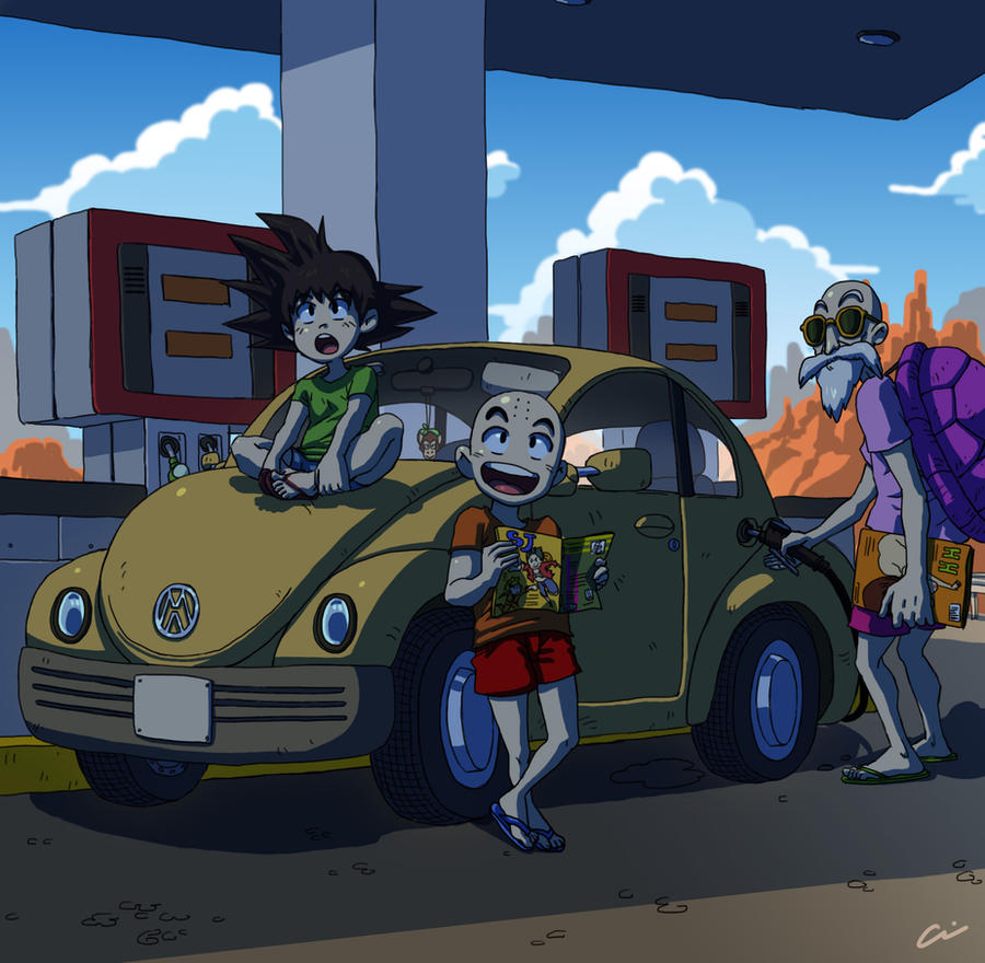 Dragon Ball - Gas Station by oNichaN-xD
