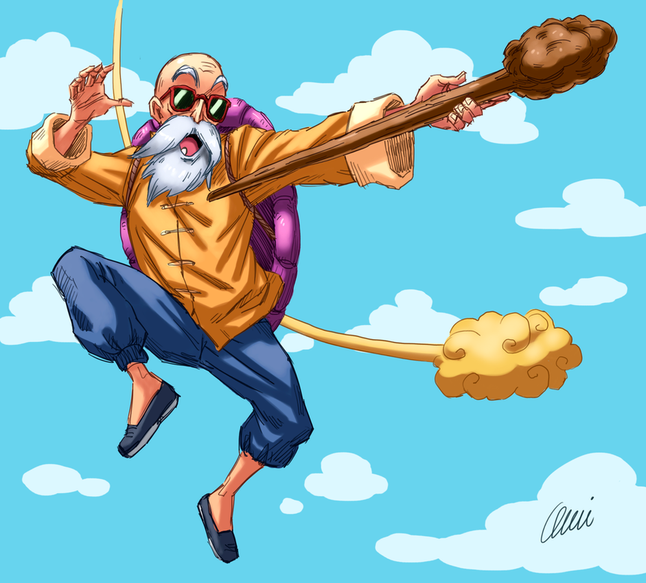 Top 10 protagonisti ed antagonisti Dragon Ball Maestro_muten___speedpaint_by_onichan_xd-d79s7ab