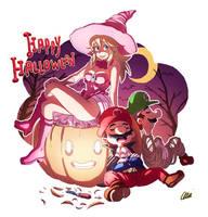 Super Happy Halloween Bros 2014 by oNichaN-xD