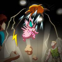 Pokemon - Oni VS Lt. Surge by oNichaN-xD
