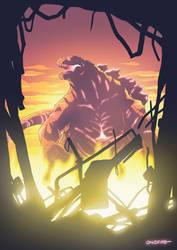 Drawing Challenge 04 - Godzilla by oNichaN-xD