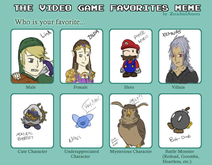 video_game_favorites_meme_by_shadow_mario_1995 d342u4g video game favorites meme by shadow mario 1995 on deviantart