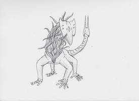 Daily Drawing #1: Demon variant