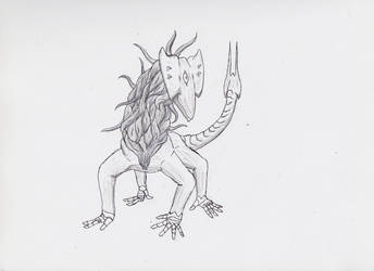 Daily Drawing #1: Demon variant by Whachamacallit1