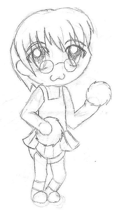 Fredrick Hofstede Sissy Cheerleader sketch by Blood-B0xer