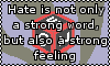 Hate isn't just a word by Blood-B0xer