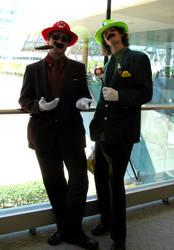 Mario Brothers - Otakon 2010 by jacmac