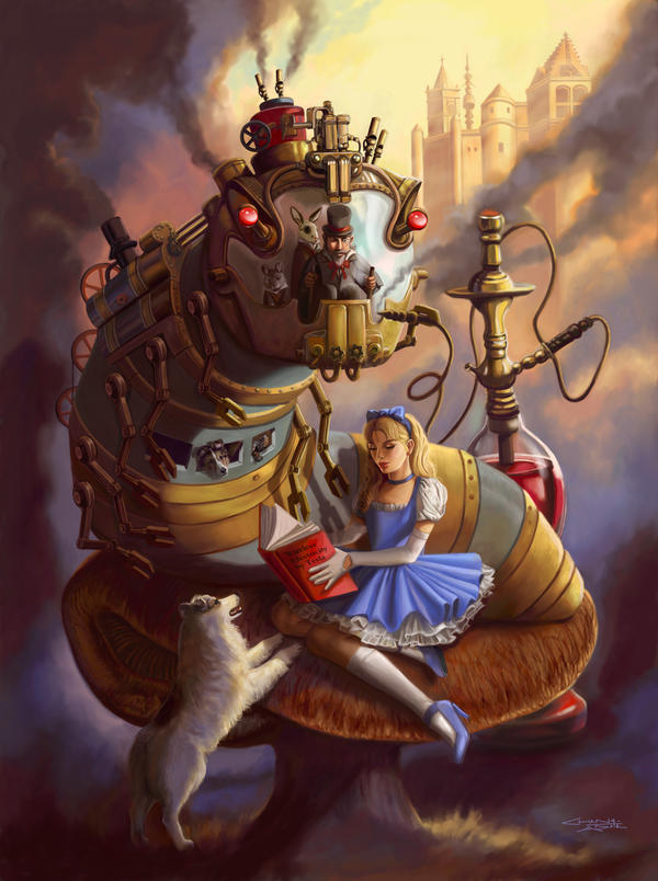 Steam Punk Alice in Wonderland by rebelakemi