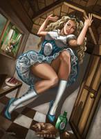 Steampunk Alice Drink Me by rebelakemi