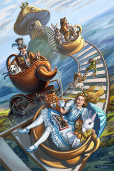 Steampunk Alice in Wonderland Teacup Rollercoaster