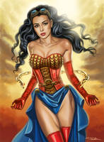 Steampunk Wonder Woman by rebelakemi