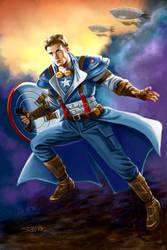 Steampunk Captain America by rebelakemi