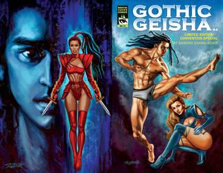 Gothic Geisha #4 Cover by rebelakemi