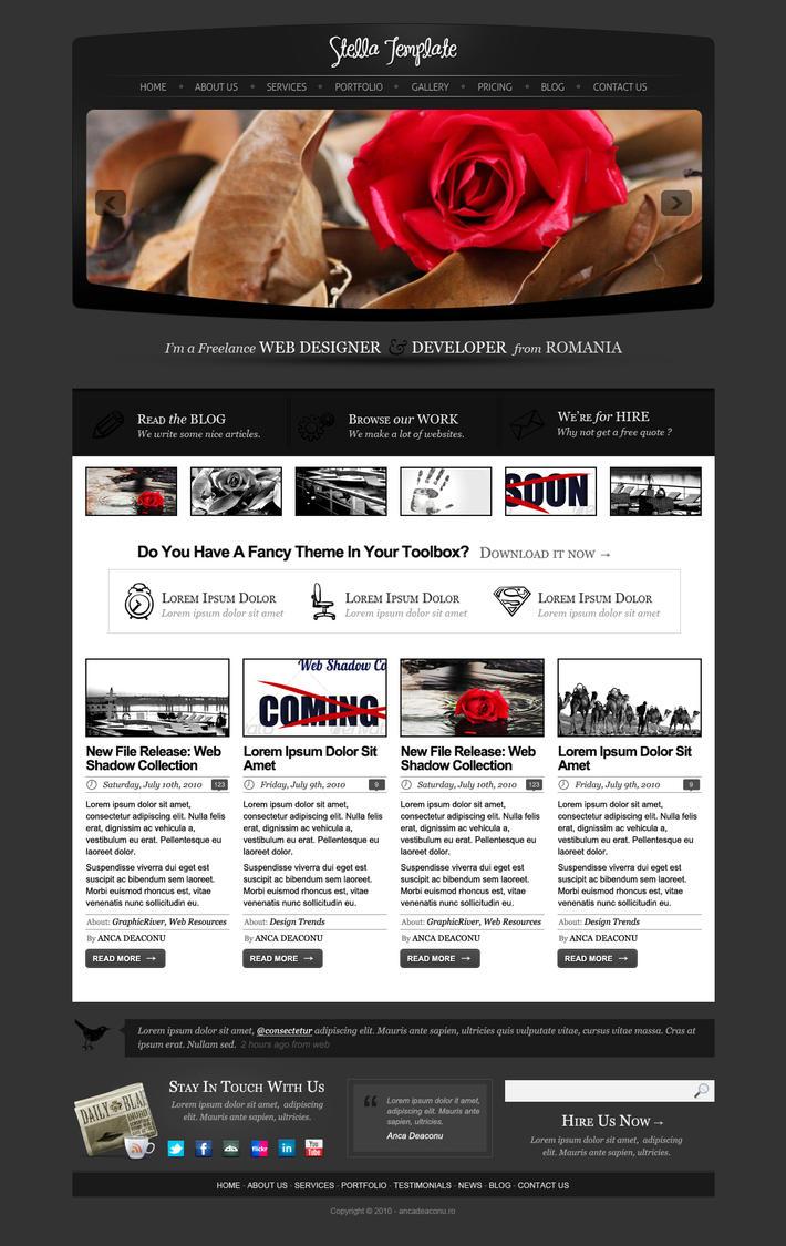 Stella Template - Homepage by AncaDeaconu