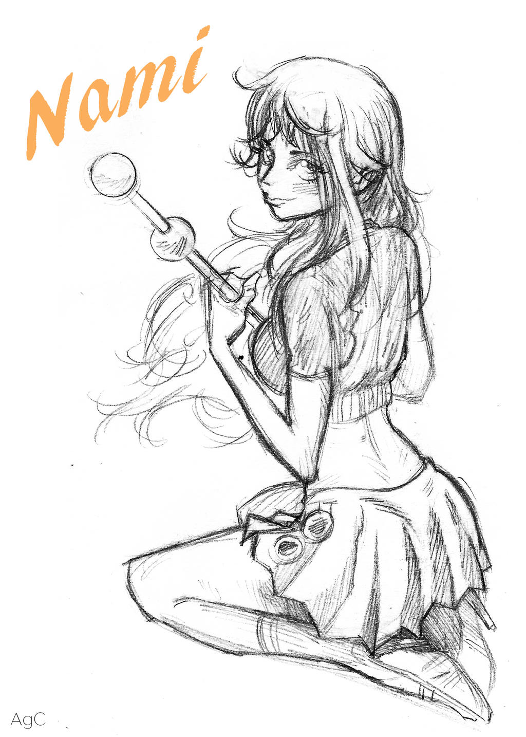 Nami - One Piece - Pencil Sketch 7 By AnthonyGonzalesClark On DeviantArt