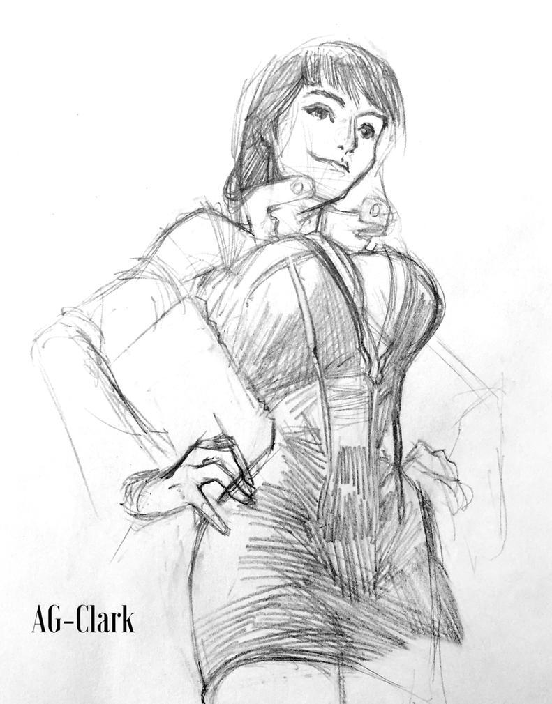 Nico Robin Pencil Sketch by AnthonyGonzalesClark