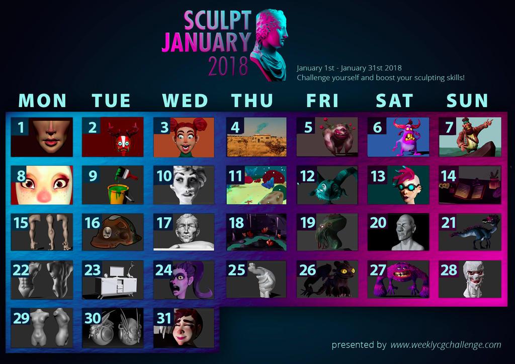 SculptJanuary18 by CrashesIntoSpace