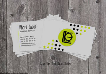 Abdul Jabar Business Card by AbdulMotaalMosleh