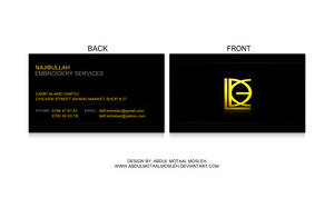 Najibullah Business Card by AbdulMotaalMosleh