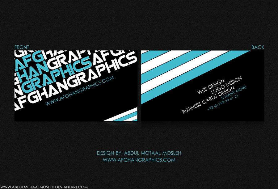 Afghan Graphics Business Card by AbdulMotaalMosleh on DeviantArt
