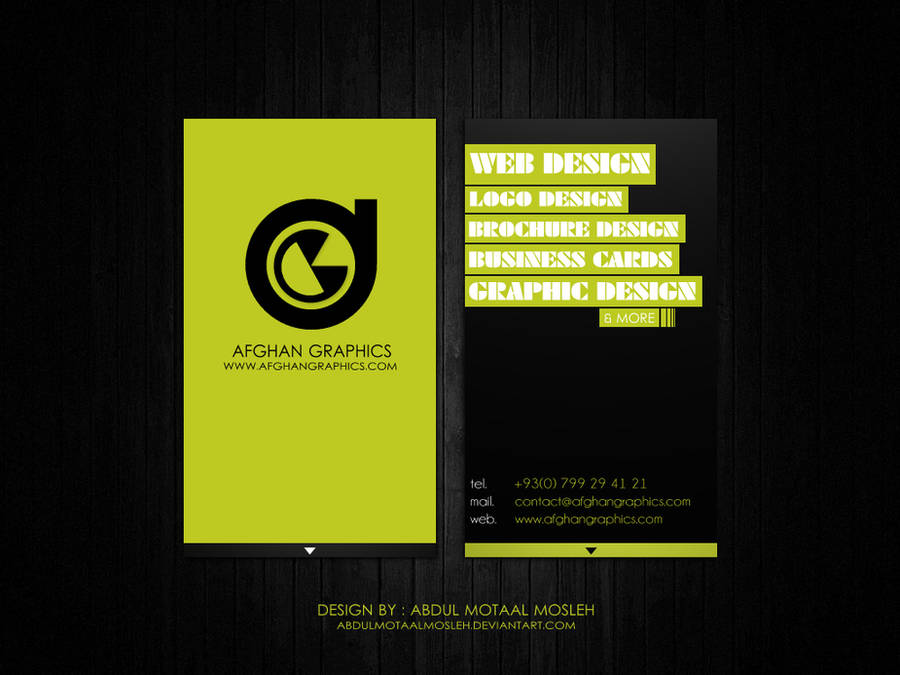 Afghan Graphics Business Card2 by AbdulMotaalMosleh