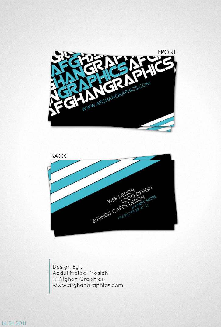 Afghan Graphics Business Card3