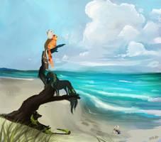 Hidden in the Sand by saltwaterhermit