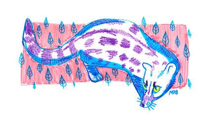 Purple Spotted Genet by saltwaterhermit