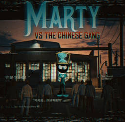 Marty Vs The Chinese Gang Poster by JasonLukeGarner