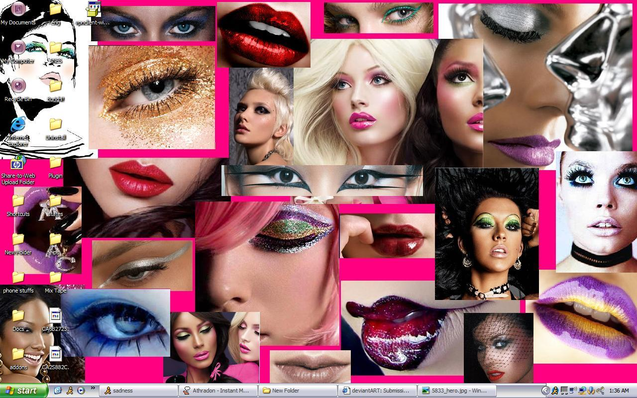 custom makeup collage by moonywerecat on deviantart