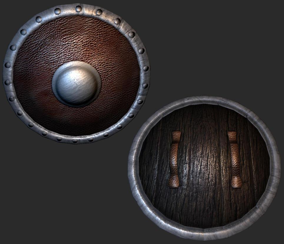 wooden round medieval shield by Berni-Marin on DeviantArt
