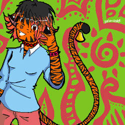 um, me as a tiger.