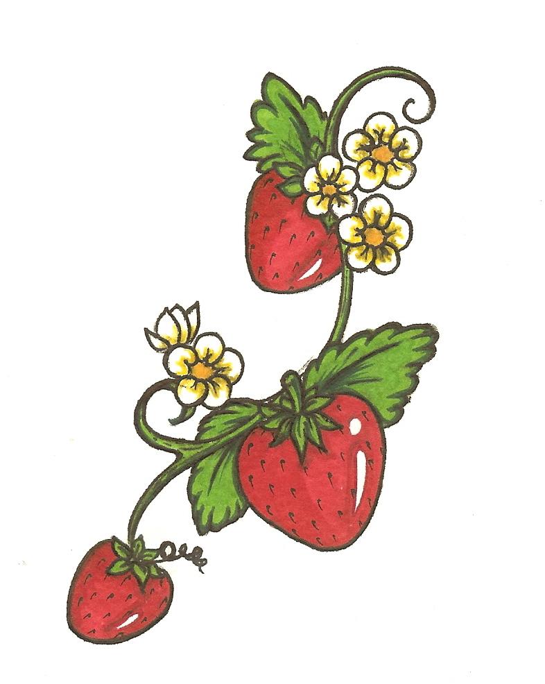 strawberry tattoo by bullettkat17 on deviantart. Black Bedroom Furniture Sets. Home Design Ideas