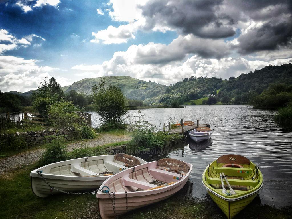 Rowboats at Faeryland by SlamDunkin