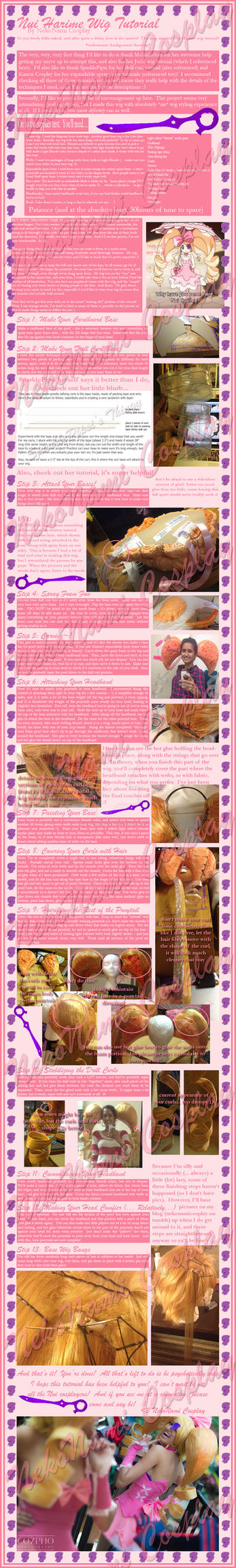 Nui Harime Wig Tutorial by NekoNamiCosplay