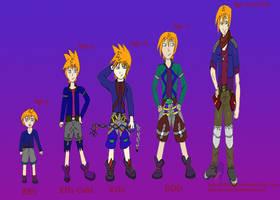 Haru Throughout the Years by MetalKnightStar
