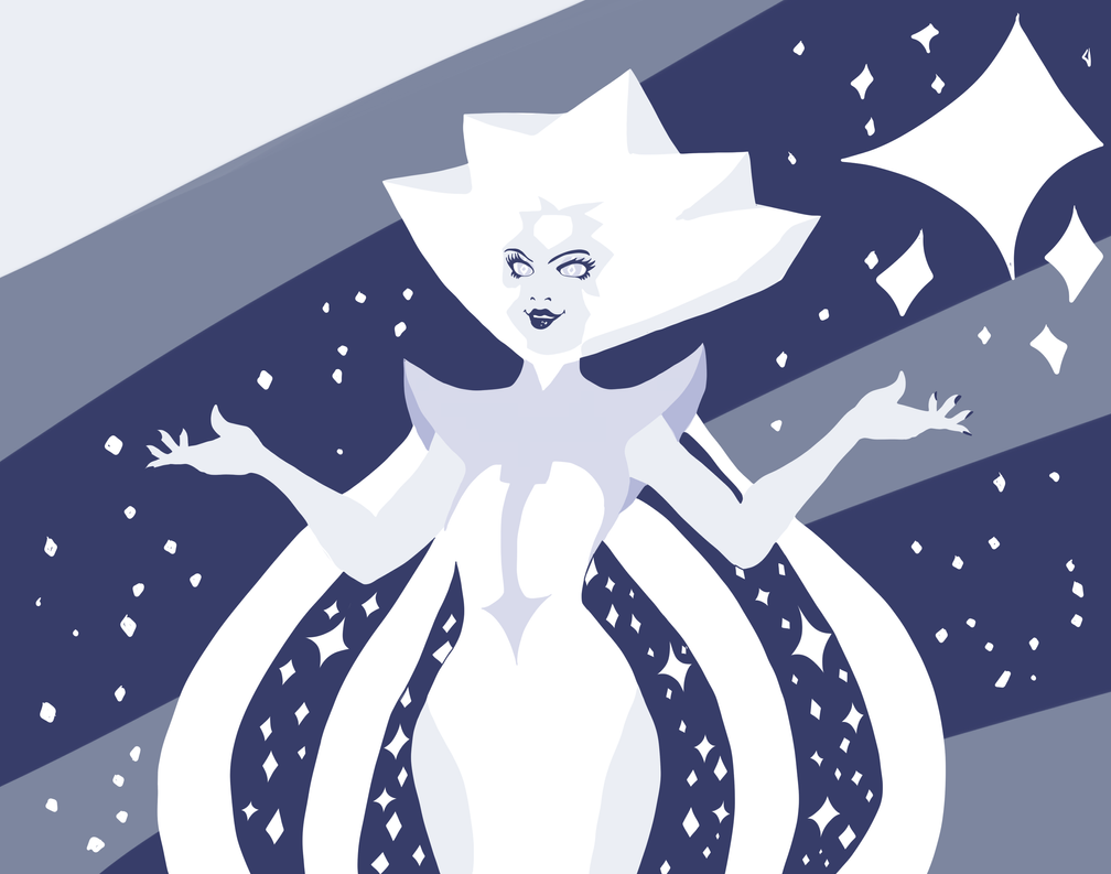 White Diamond. So fabulous I couldn't resist drawing fanart of her. It was quite fun actually!