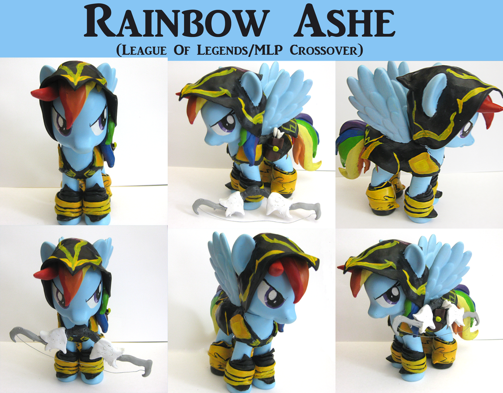 Rainbow Ashe custom MLP:FiM/LoL Fashion Style Fig by alltheApples