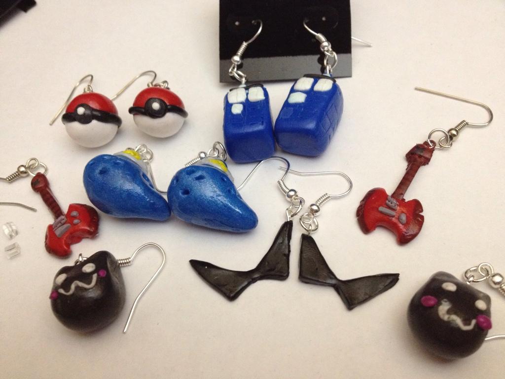 nerdy earrings by alltheapples on deviantart