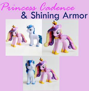 Shining Armor and Princess Cadence MLP Customs