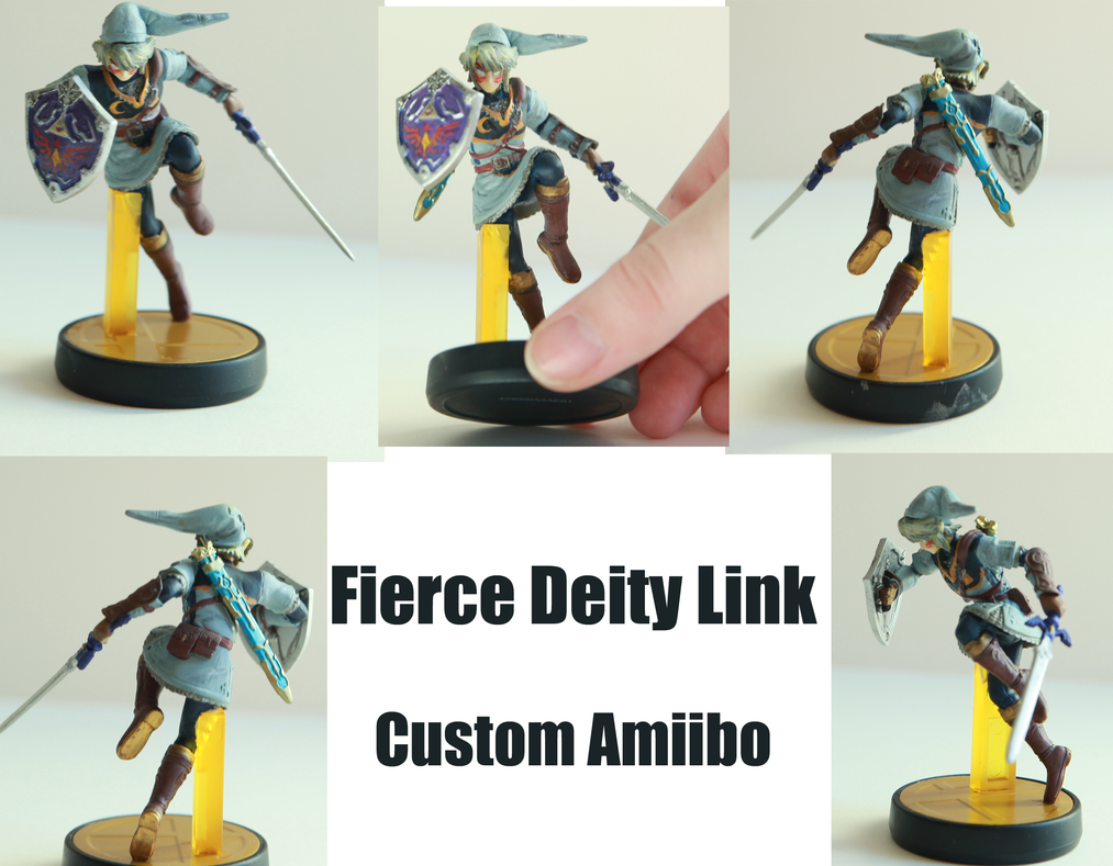 Fierce Deity Link Amiibo Custom by alltheApples