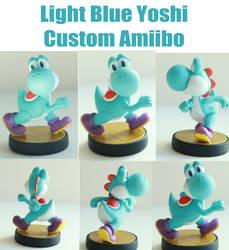 Light Blue Yoshi Custom Amiibo