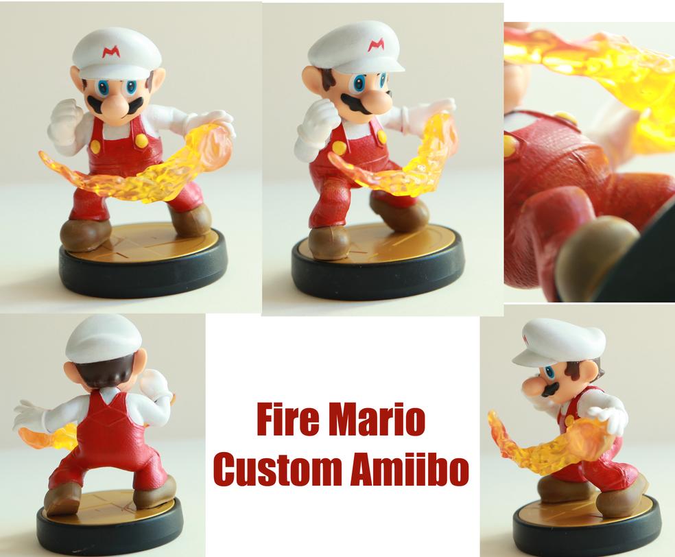 Fire Mario Custom Amiibo by alltheApples