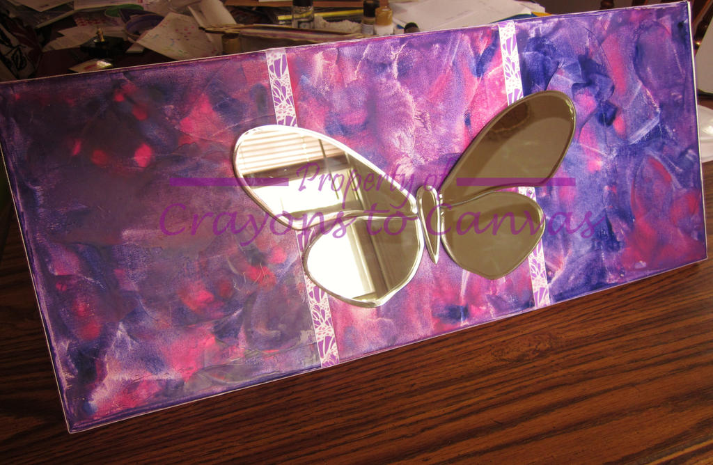Melted Crayon Art- Butterfly Trio Mirror Wall Art by AywenCreations ...