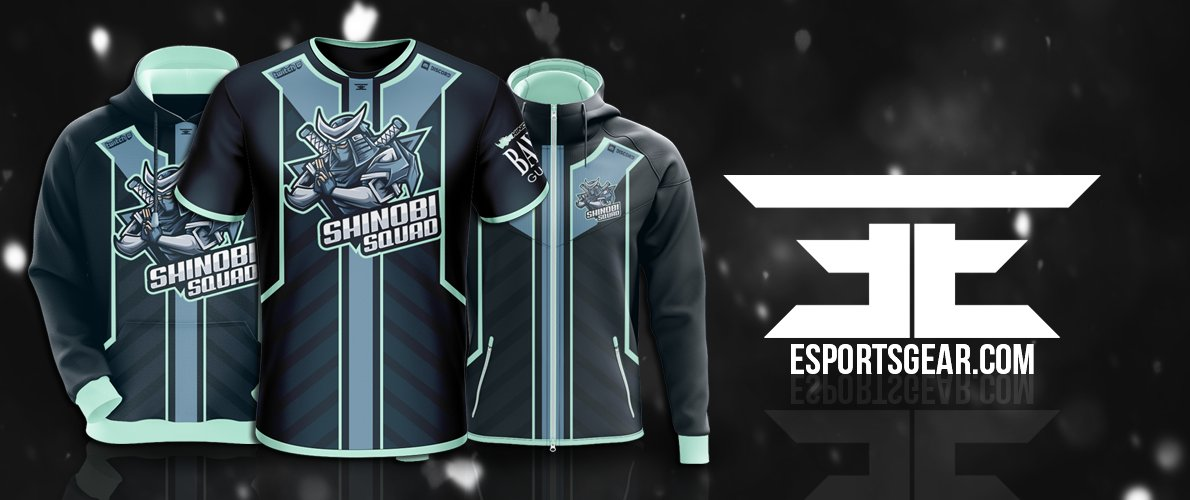 shinobi squad esport apparel design by soberdreams
