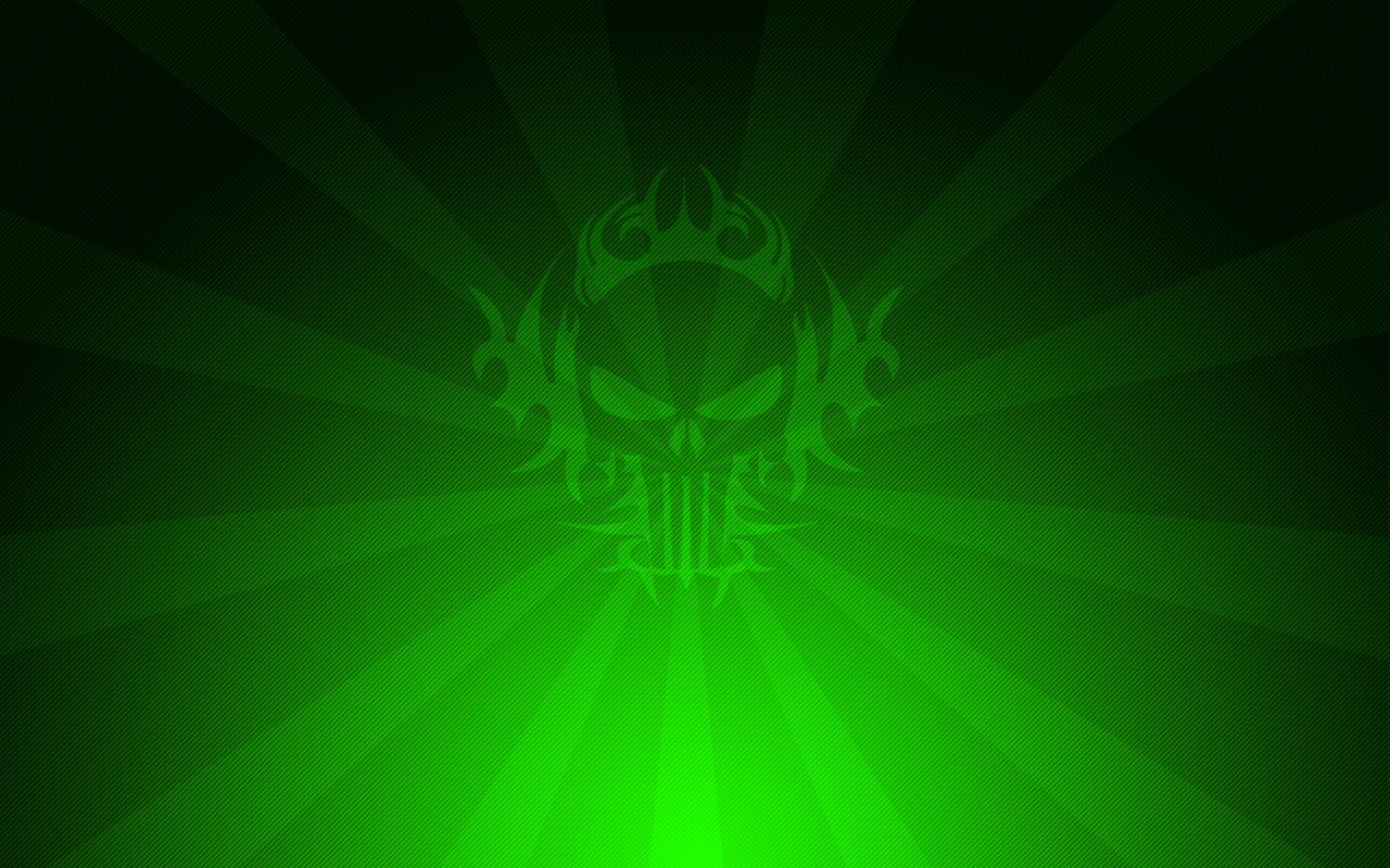 Dark Green Skull Wallpaper Png