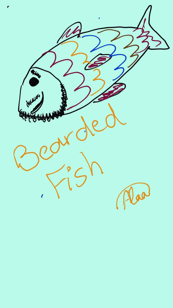 bearded fish by rainbowbright44