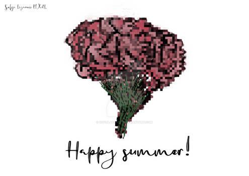 Happy summer Pixel Greeting