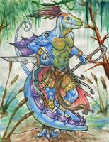 Swamp Lizard by shawnsmithart